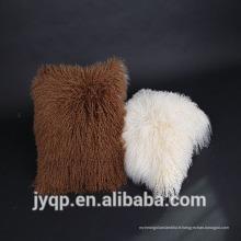 Wholesale tibétain mongol agneau fourrure laine housse de coussin