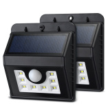 2017 High Brightness Weatherproof Motion Sensor outdoor Solar Wall Lighting