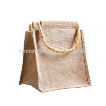 La bolsa de asas impresa barata barata del yute de la fuente de la fábrica