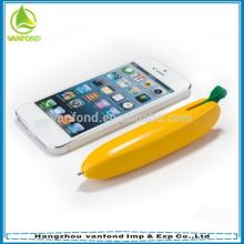 Pena de esfera de forma bonito plástico banana para promoção
