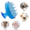 Silicone hair brush scalp massager shampoo brush