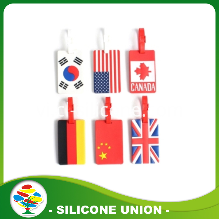 National flag silicone luggage tag