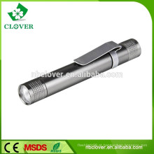 Material de liga de alumínio 1 levou 1 * AAA bateria caneta forma levou lanterna