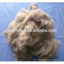 100% pure dehaired Chinese dark brown yak wool