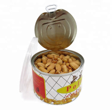 Fried roasted and salted peanuts kernels without skin shell
