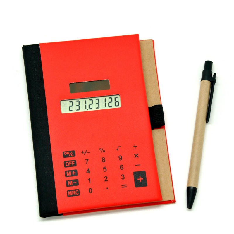 Pu Cover Touch Screen Notebook Calculator with Pen