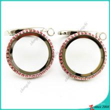 Открытый круглый медальон ожерелье (FL16041938)