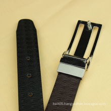 mens fashion zinc alloy buckle leather belt