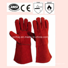 14′′welding Gloves with Kevlar Stitching, Cow Leather Welding Gloves Supplier, Welding Gloves Manufacturer, Leather Working Gloves for Welder Use