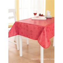 Toalha de mesa impressa barata plástica do PVC do revestimento protetor da tela não tecida Tj0093