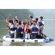 4,7 m bateau gonflable de pêche avec l'aluminium plancher