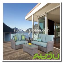 Audu 4 Stück Wicker Sitzplätze, Sitzplätze im Freien