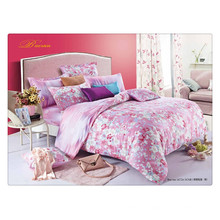 Floral luxury 40s 128 * 68 pigment printing 100% coton literie couette set