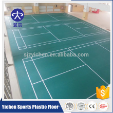 Piso de vinil de quadra de esportes indoor eco-friendly de alta qualidade, badminton, tapete de voleibol