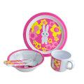 5PCS Melamine Kids Dinnerware Set