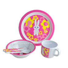 5PCS Melamine Kids Dinnerware Set