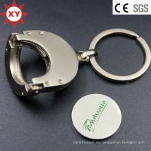 Faltbarer Einkaufswagen-Laufkatze-Münzen-Schlüsselbund Schlüsselbund