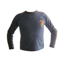 Long Sleeve Man Printed T Shirt With Logo Design-Poly Meshed Fabric