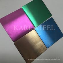 Hallo-Qualität Edelstahl Hairline Blatt für Dekorationsmaterialien