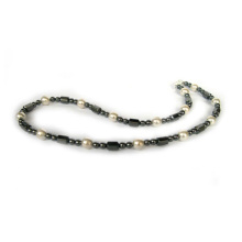 Hematite Glass Pearl Necklace
