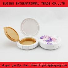 Silk -screen round caixa de pó compacto