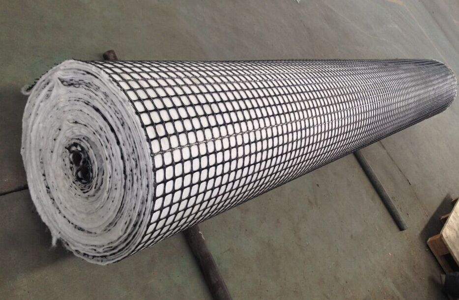 Composite PP Biaxial Geogrid With Nonwoven Geotextile