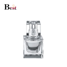 15ml fancy small spray pump perfume bottle clear square glass perfume spray bottle chinese supplier