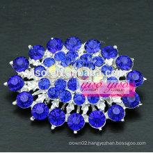 multi colored crystal shield brooch