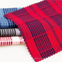 Tissus de coton à carreaux teints en fil pour robe