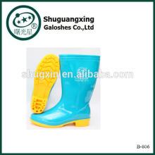 bottes de pluie pour les femmes bottes de caoutchouc pour les femmes B-806