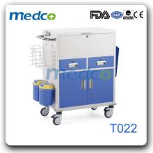 Chariot à changement de médecine de l'acier T022