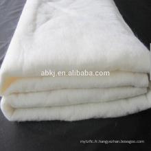 High loft washable 50% silk fiber +50% polyester wadding factory Supplier