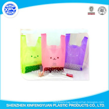 Manufacturer Custom Handle Vest Plastic Shopping Bags