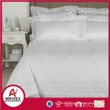 Hot vente 100% coton blanc draps de lit hôtel en gros 5 étoiles hôtel ensembles de chambre à coucher