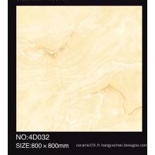 Carrelage en porcelaine glacée en couleur beige poli 600X600mm