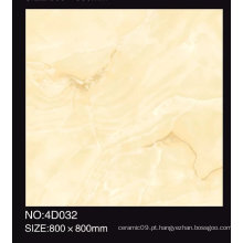 600X600mm Full Polished Beige Cor Telha de porcelana vitrificada