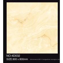 Tuile de porcelaine émaillée de couleur beige polie de 600X600mm