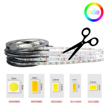 12V 3528 5050 5630 3014 2835 300leds SMD RGB Ceiling Counter Cabinet No waterproof 5M RGB LED Strip Light
