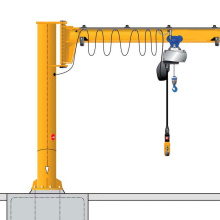 2 ton foundation mounted cantilever slewing jib crane