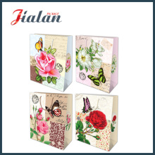 Nature Style Flowers & Buttlefly Fashion Shopping Portrier Gift Paper Bag