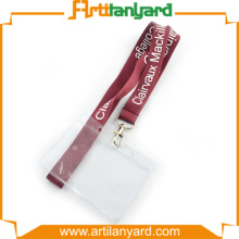 Red Color Lanyard with ID Card Holder
