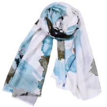 Forme a mujeres el algodón suave Animal Impreso pinturas al óleo Viscose lady bufanda de moda