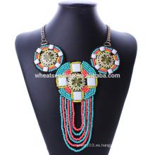Collar del grano de la vendimia del boho de la joyería de la manera de la llegada de Yiwu futian