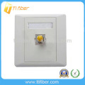 Single Port ST Fiber Optic Faceplate/Wall Plate