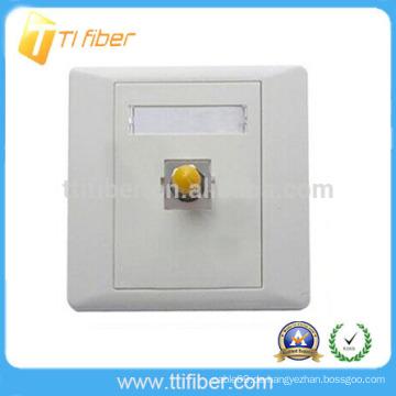 Single Port ST Fiber Optic Faceplate / Wandplatte