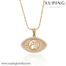 32212 Xuping wholesale fashion gold plated eye shaped pendant with zircon