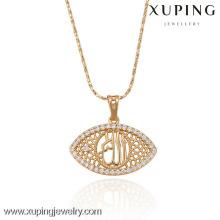 32212 Xuping atacado moda banhado a ouro pingente em forma de olho com zircão