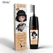 Dexe 180ml 200ml High Quality Private Label Natural Organic Hair Dye Product Black Hair Color Magic Combs