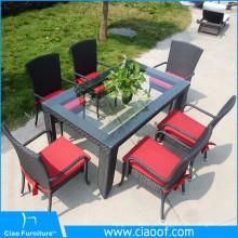 Pátio de móveis ao ar livre de fornecedor de China, conjunto de jantar