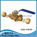 Compression Brass Ball Valve (V18-433)